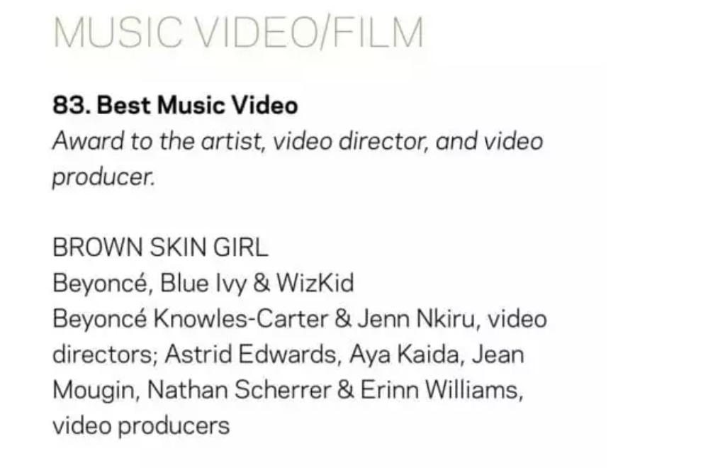 Wizkid Now on the Updated Nominee List