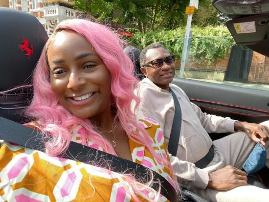 DJ Cuppy and her father